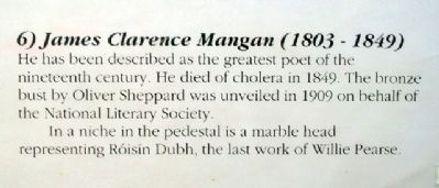 James Clarence Mangan Marker image. Click for full size.