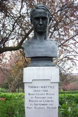 Thomas M. Kettle Memorial image. Click for full size.