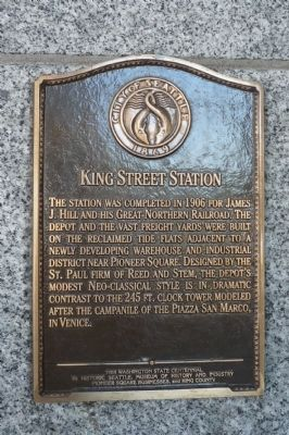 King Street Station Marker image. Click for full size.