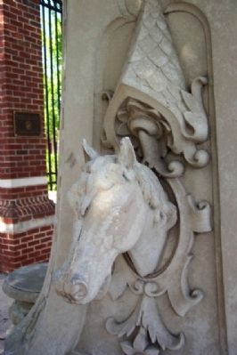 G.A.R. Statue Horse Casting image. Click for full size.