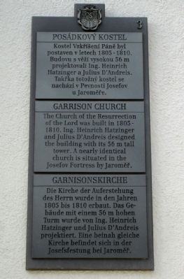 Garrison Church Marker image. Click for full size.