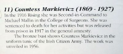Countess Constance Markievicz Marker image. Click for full size.