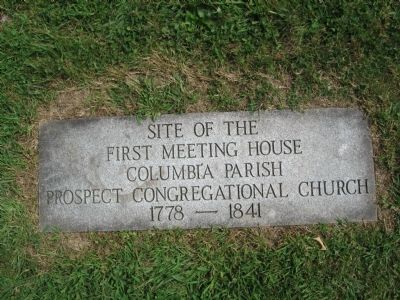 Site of the First Meeting House Marker image. Click for full size.