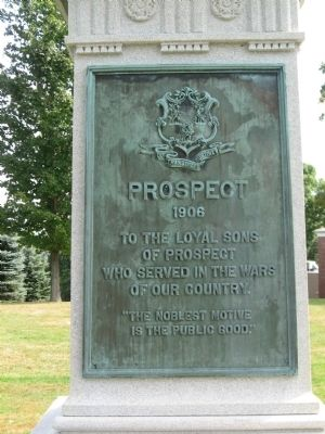 Prospect Soldiers' Monument [ West plaque ] image. Click for full size.
