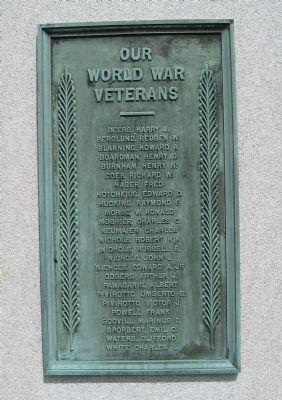 Prospect Soldiers' Monument [ South plaque ] image. Click for full size.