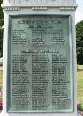 Prospect Soldiers' Monument [ East plaque ] image. Click for full size.