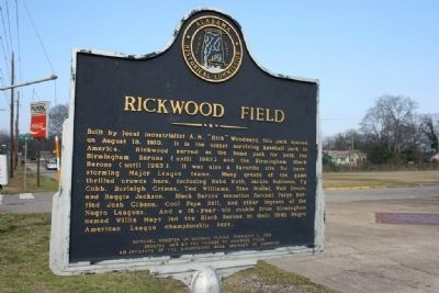 Rickwood Field Marker image. Click for full size.