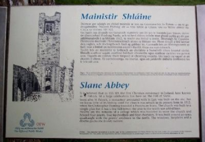 Slane Abbey / Mainistir Shláine Marker image. Click for full size.