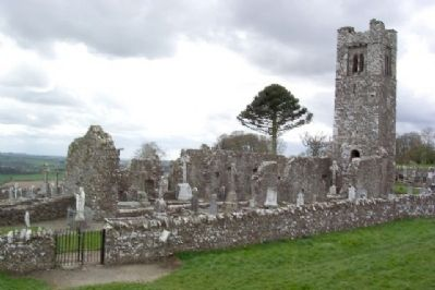 Slane Abbey / Mainistir Shláine and Marker image. Click for full size.