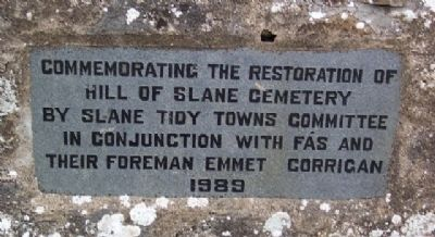 Hill of Slane Cemetery Restoration Marker image. Click for full size.