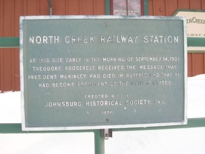 North Creek Railway Station Marker image. Click for full size.