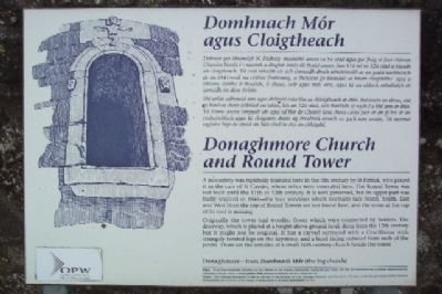 Donaghmore Church and Round Tower / Domhnach Mór agus Cloightheach Marker image. Click for full size.