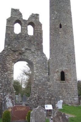 Donaghmore Church and Round Tower and Marker image. Click for full size.
