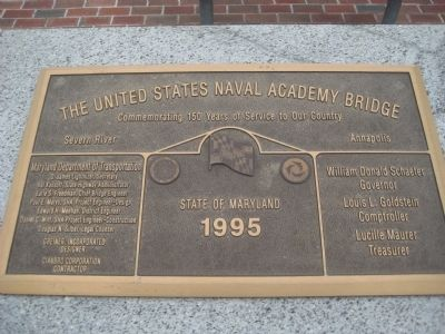 The United States Naval Academy Bridge Marker image. Click for full size.