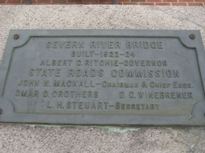 Severn River Bridge Marker image. Click for full size.