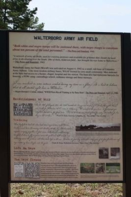 Walterboro Army Airfield Marker image. Click for full size.