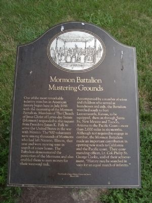 Mormon Battalion Mustering Grounds Marker image. Click for full size.
