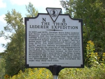 The Third Lederer Expedition Marker image. Click for full size.