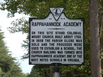 Rappahannock Academy Marker image. Click for full size.