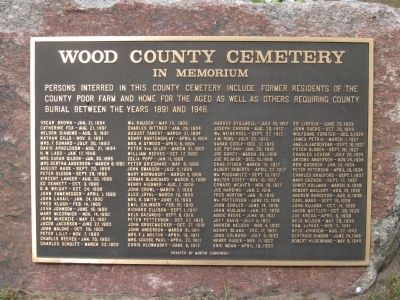 Wood County Cemetery Marker image. Click for full size.