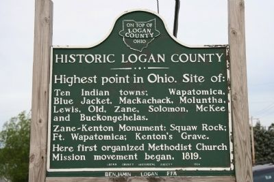 Historic Logan County Marker image. Click for full size.
