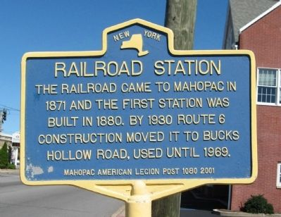 Railroad Station Marker image. Click for full size.