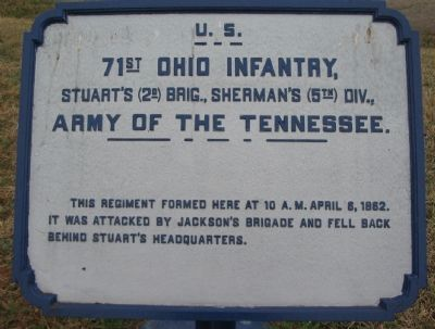 71st Ohio Infantry Tablet image. Click for full size.