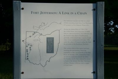 Fort Jefferson: A Link in a Chain Marker image. Click for full size.