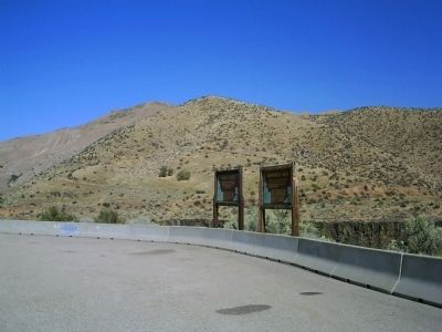More's Creek/Arrowrock Dam Markers Along Hwy 21 image. Click for full size.