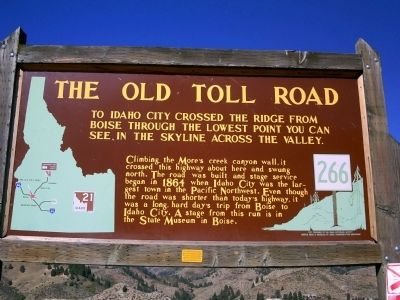 The Old Toll Road Marker image. Click for full size.