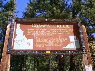 Grimes' Creek Marker image. Click for full size.