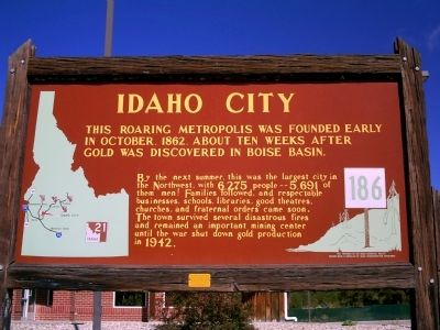Idaho City Marker image. Click for full size.