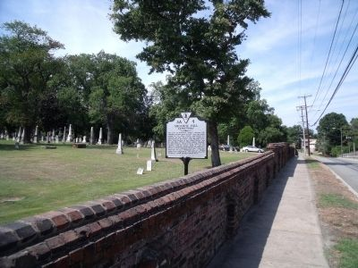 Shockoe Hill Cemetery Marker on Hospital Street image. Click for full size.