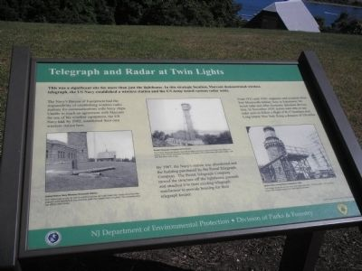 Telegraph and Radar at Twin Lights Marker image. Click for full size.