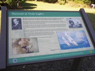 Marconi at Twin Lights Marker image. Click for full size.