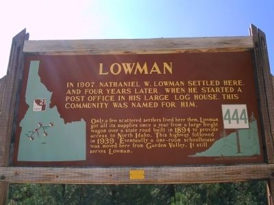 Lowman Marker image. Click for full size.