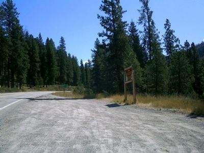 Lowman Marker Along Highway 21 image. Click for full size.