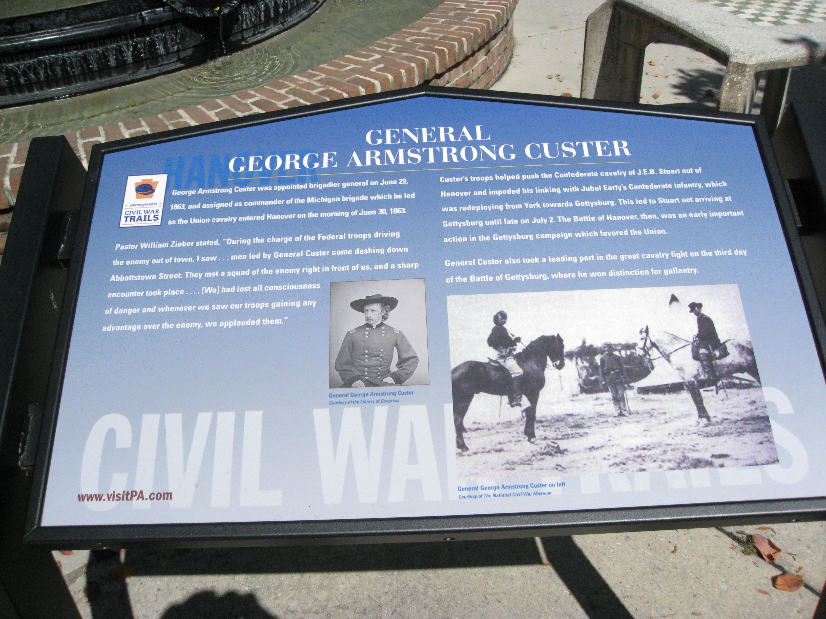 GENERAL GEORGE ARMSTRONG CUSTER Marker