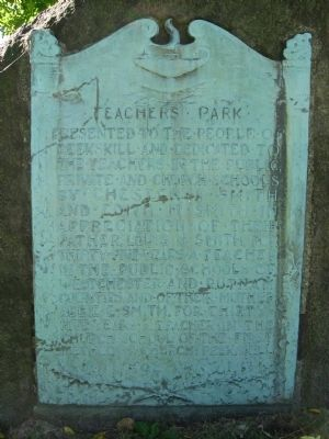 Teachers Park Marker image. Click for full size.