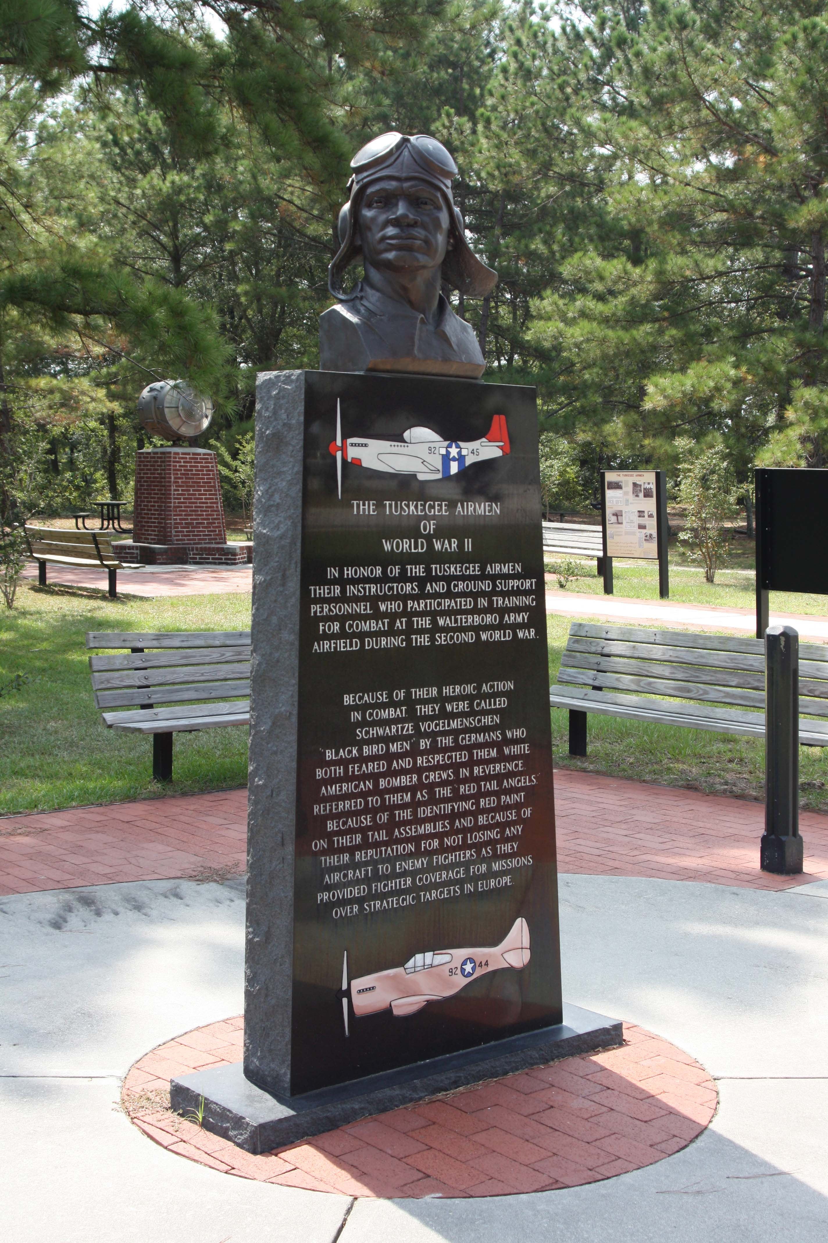 Tuskegee Airmen Monument at Walterboro Army Airfield Park