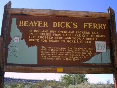 Beaver Dick's Ferry Marker image. Click for full size.
