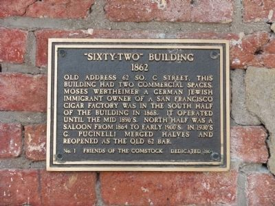 """Sixty-Two"" Building Marker image. Click for full size."