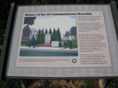 History of the Ten Commandments Monolith Marker image. Click for full size.