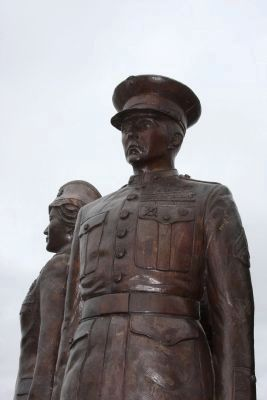 US Marine Figure - Statue in the U. S. Military Grouping image. Click for full size.