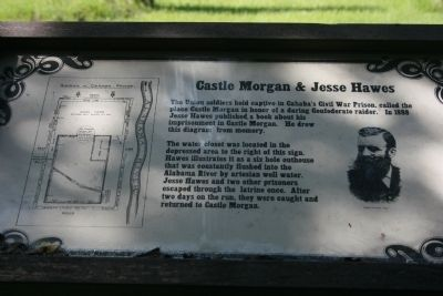 Castle Morgan & Jesse Hawes Marker image. Click for full size.