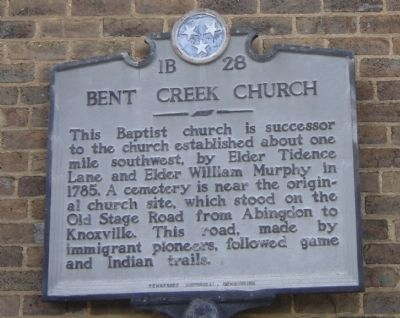 Bent Creek Church Marker image. Click for full size.