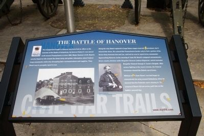The Battle of Hanover Marker image. Click for full size.