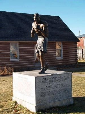 Jack Dempsey statue and birthplace image. Click for full size.