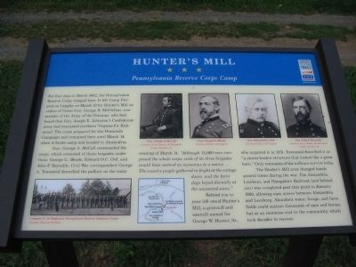 Hunter's Mill Marker image. Click for full size.