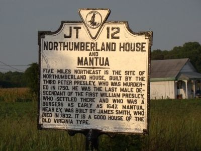 Northumberland House and Mantua Marker image. Click for full size.